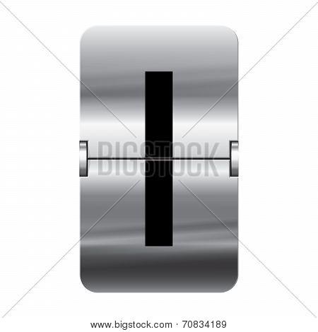Silver Flipboard Letter - Departure Board - I