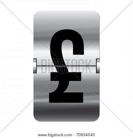 Silver Flipboard Letter - Departure Board - Pound