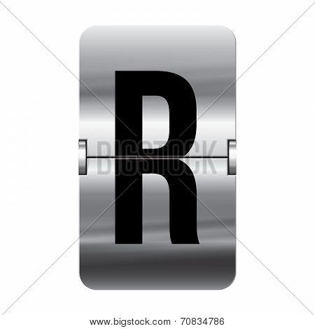 Silver Flipboard Letter - Departure Board - R