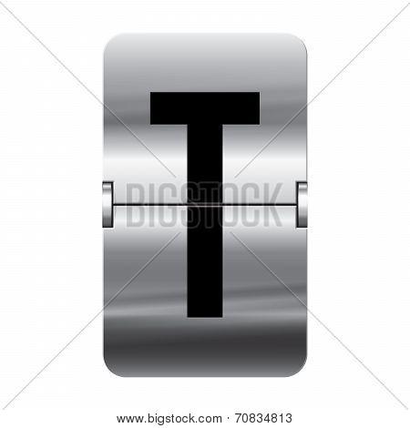 Silver Flipboard Letter - Departure Board - T