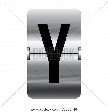 Silver Flipboard Letter - Departure Board - Y