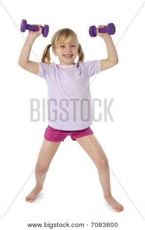 Female Child Exercising