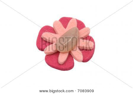 Rose Quarz On Felt