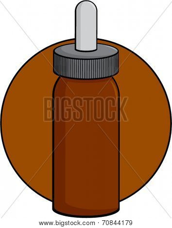 brown medicine bottle with dropper cap