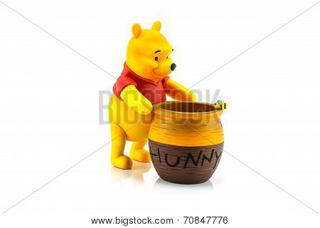 Figure Of Winnie The Pooh And Hunny Pot.