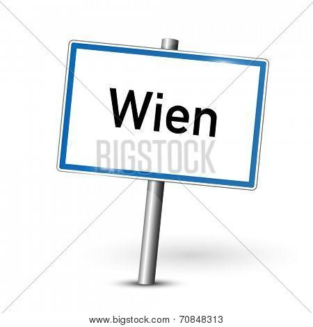 City sign - Wien - Vienna - Austria