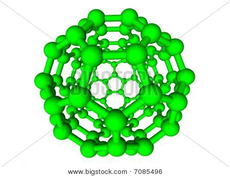 Green Chemical Structure On White Background