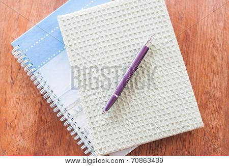 Two Of Notebooks And Pen
