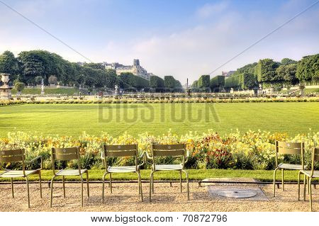Territory Of Park Of The Luxemburg Palace