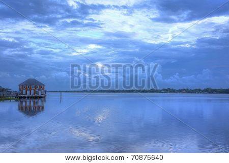 Sunrise blue reflections