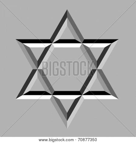 vector stone carved david star