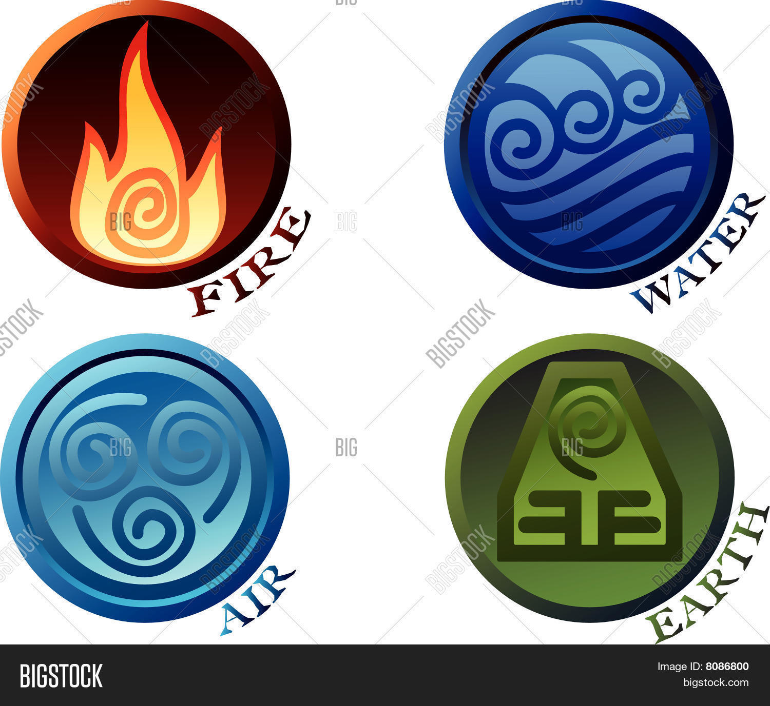 Symbols four elements vector photo bigstock symbols of four elements buycottarizona