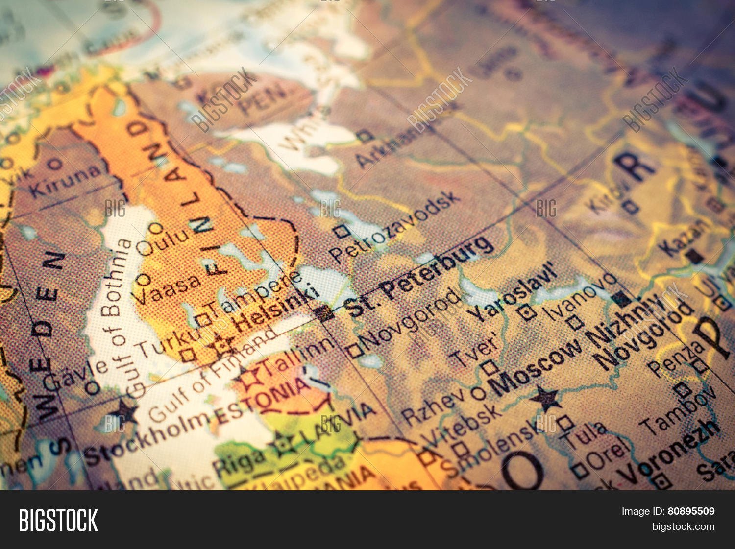Map russia finland image photo free trial bigstock map russia and finland close up macro image of russian map selective focus gumiabroncs Choice Image