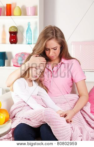 Mother And Sick Child