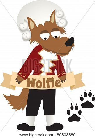 Vector Mozart Wolf - Brown Wolf