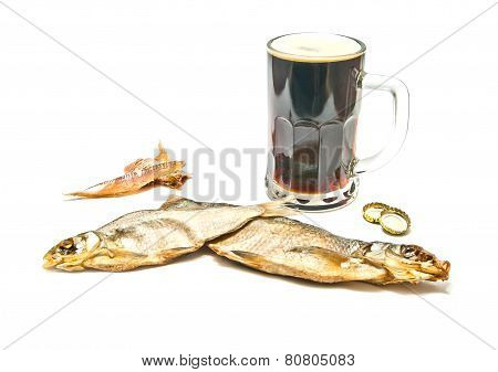 Stockfish And Glass Of Beer