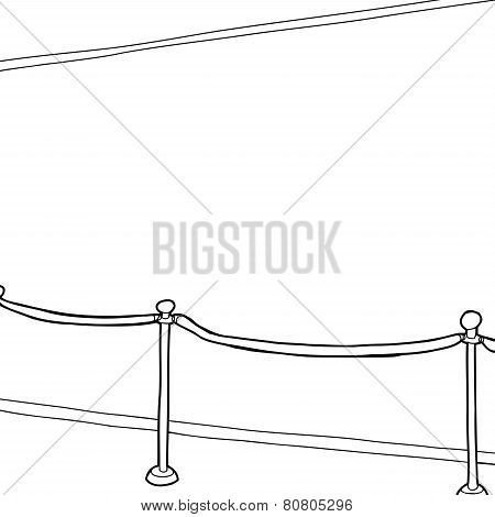 Outline Stantion And Wall