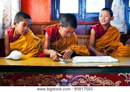 Novice monks, Nepal