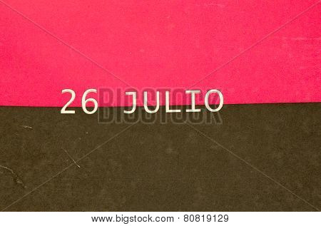 July 26 Movement Flag, Cuba
