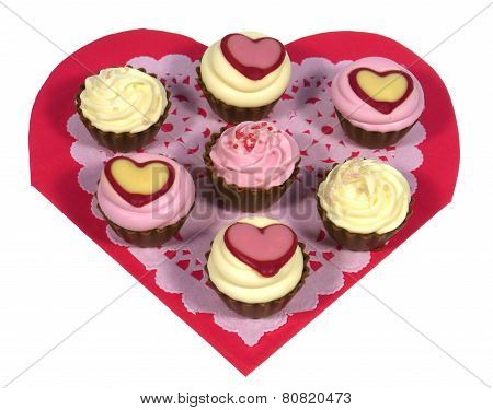 Chocolates on a filigree heart