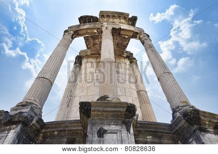 Temple of Vesta at the Roman Forum