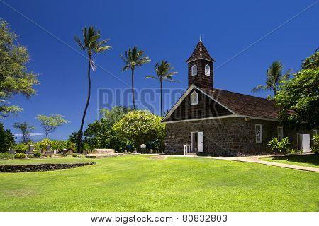 Keawalai Church near Maluaka Beach, south Maui, Hawaii, USA
