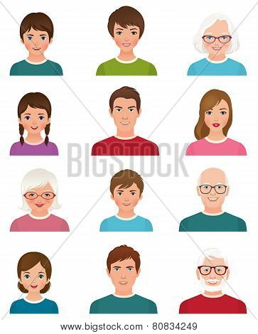 Avatars People Of Different Ages