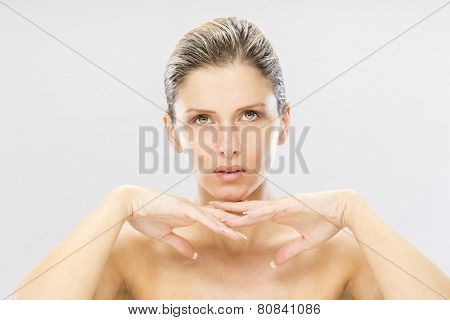 Beauty portrait of tended woman poster