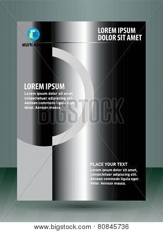 Black flyer Leaflet template design