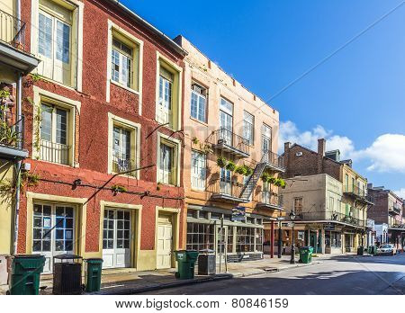 Historic Building In The French Quarter with people
