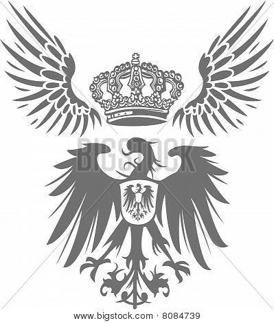 classic eagle with crown