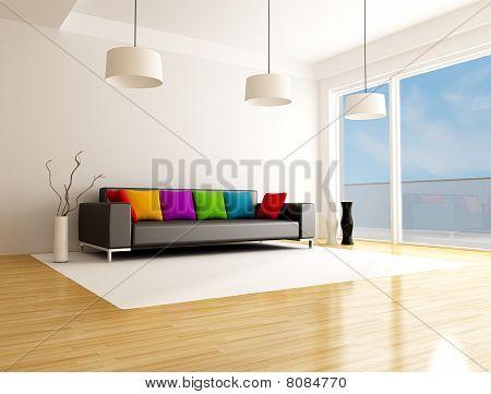 Moderno salotto colorato
