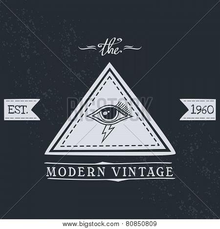 all seeing eye of horus vintage art