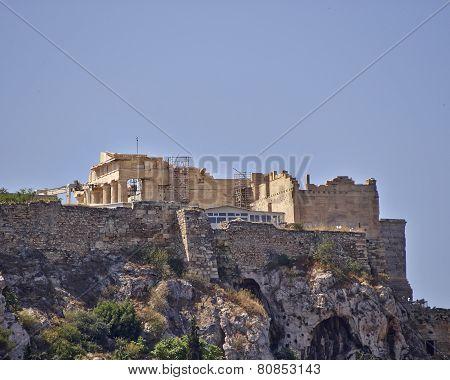 Athens Greece propylaea on acropolis