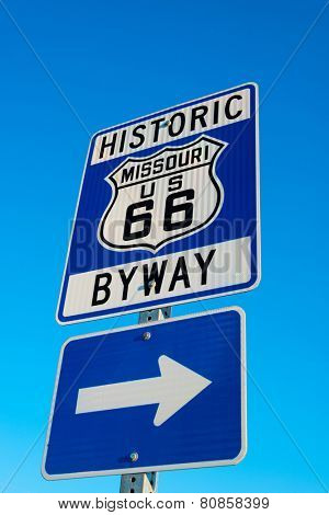 Route 66 Highway sign - United States