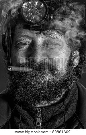 Portrait of midage man with beard
