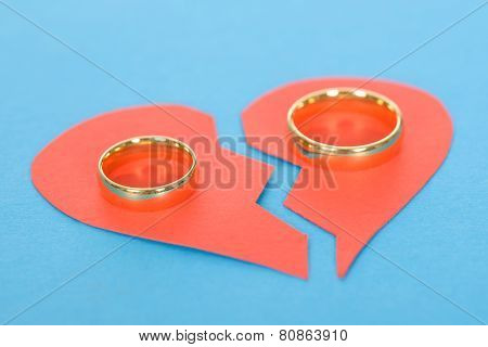 Ring With Broken Heart