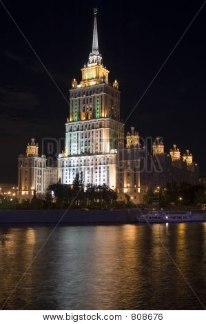 Moscow night view