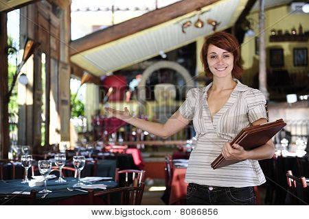 Small Business: Proud Female Owner Of A Restaurant