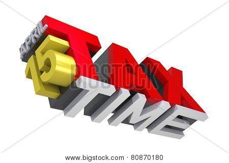 3D Tax Time Text