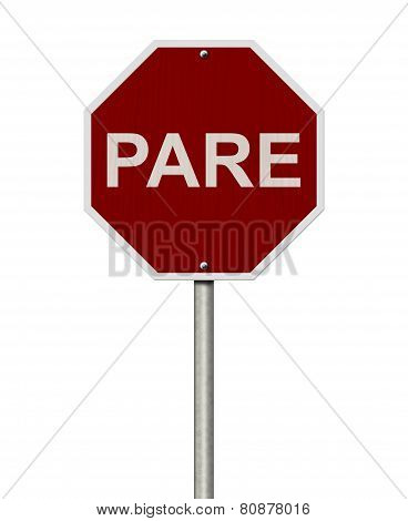 Pare Sign,stop Sign In French