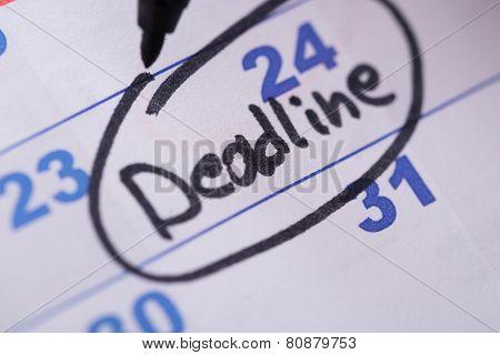 Deadline Written On Date