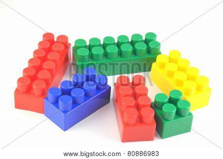 Color Components Of Child's Meccano