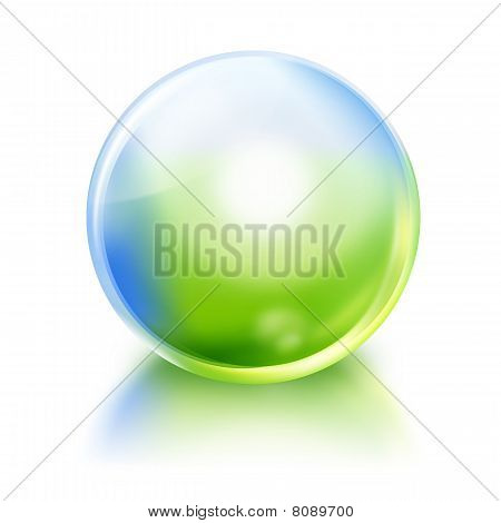 Green and Blue Nature Orb Icon