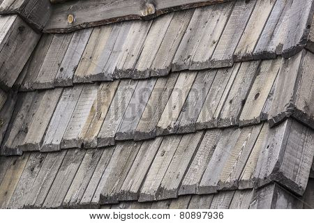 Wooden texture of the roof, wall background