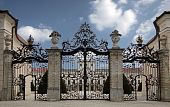 Entrance of the Palace of Esterhazy in northern Hungary poster
