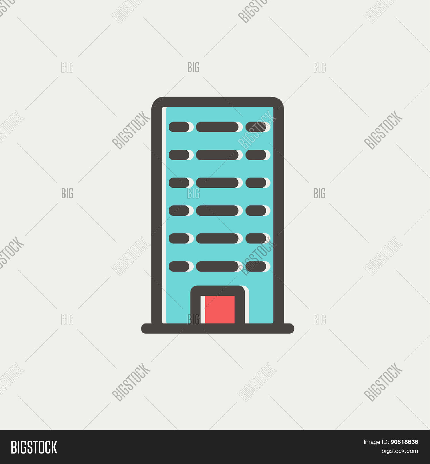 Office Building Icon Vector Photo Free Trial Bigstock