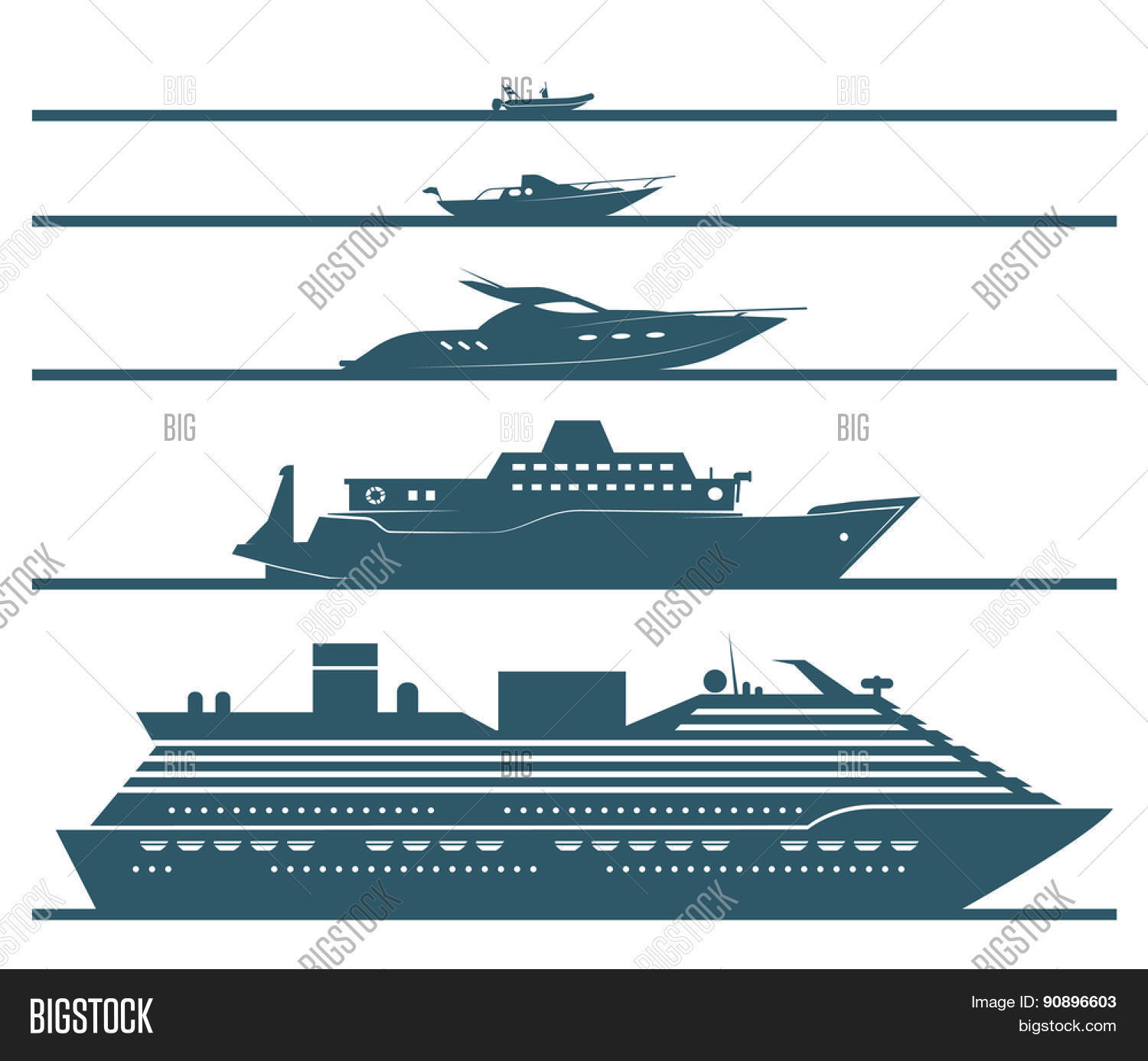 flat icons boats vector photo free trial bigstock