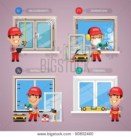 Window Installation Step by Step with Handyman Carpenter