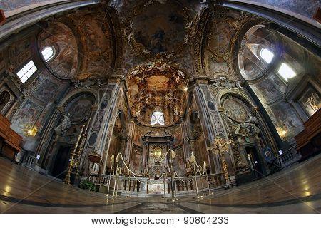 Baroque Altar In Rome